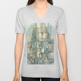 Urbe fragmentos N° 6 (City ​​fragments N° 6) Unisex V-Neck