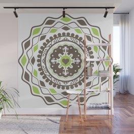 Heart Mandala – Green Wall Mural