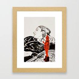 My little devil Framed Art Print