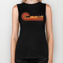 Retro Style Washington DC Skyline Biker Tank