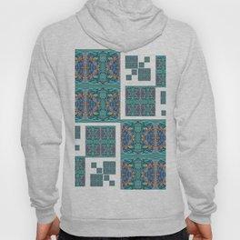 Optical Illusion Square Aqua Lavendar Mandala Quilt Design Hoody