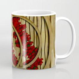 earth with flowers and tree  wood  collage Coffee Mug