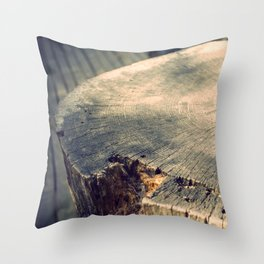 The Wood Throw Pillow