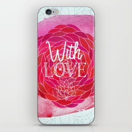 With Love - Boho Watercolor Mandala iPhone Skin