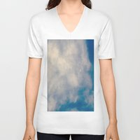 atlas V-neck T-shirts featuring Cloud Atlas by Paula Zapata