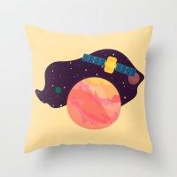 katamari Throw Pillows featuring Satellite by badOdds