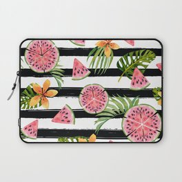 Watermelon black stripes Laptop Sleeve