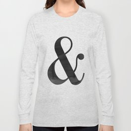 Ampersand And Sign Ampersand Print Ampersand Poster Scandinavian Typography Modern Minimalist Long Sleeve T-shirt