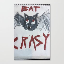 Batty the bat Canvas Print