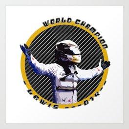 Lewis World Champion 2014 Art Print