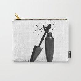 Black mascara fashion illustration Carry-All Pouch