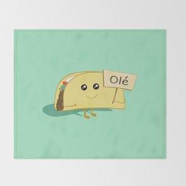 Happy Taco, Olé Throw Blanket