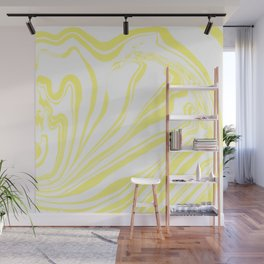 Yellow Marble Ink Watercolor Wall Mural