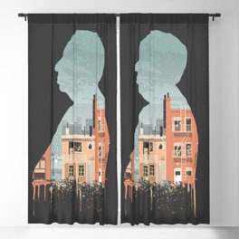Hitchcock - Rear Window Silhouette Illustration by Burro Blackout Curtain