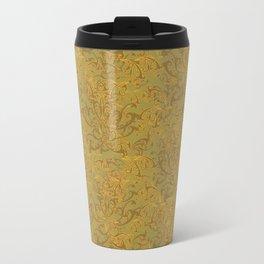 Gold Flourish Wall with Overlap Travel Mug