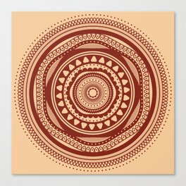 Maroon Pattern Canvas Print