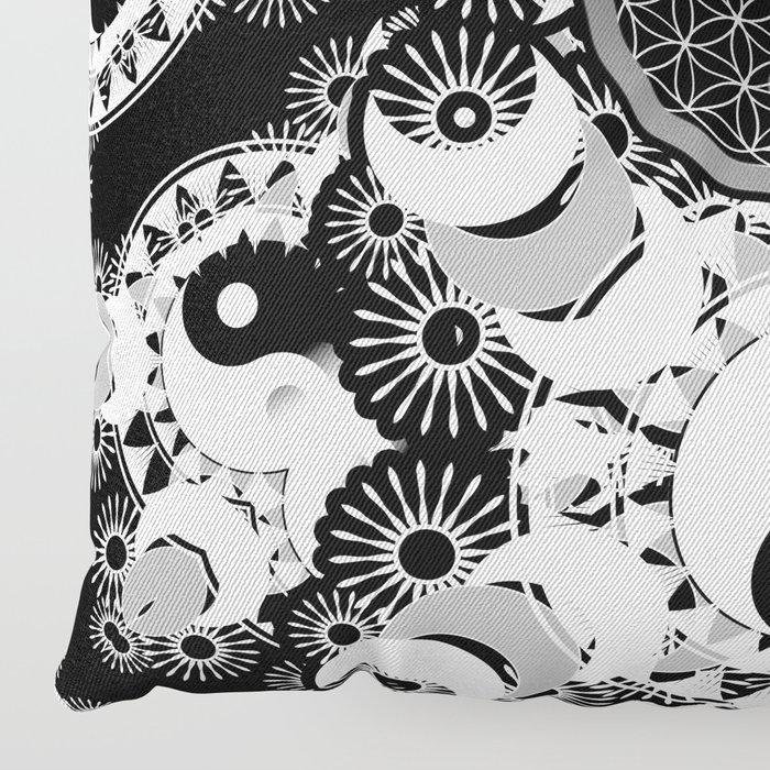 YinYang Sacred Geometry Totem Floor Pillow