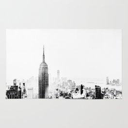 Steam - Fog over New York City Rug