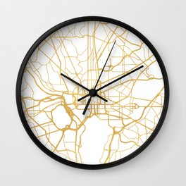 WASHINGTON D.C. DISTRICT OF COLUMBIA CITY STREET MAP ART Wall Clock