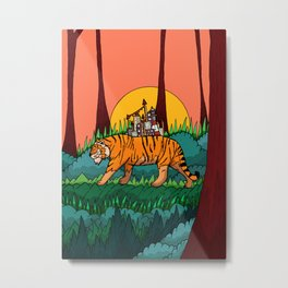 The forest and the tiger Metal Print
