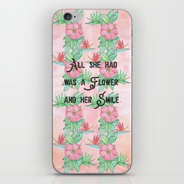Surfer girl quotes iPhone Skin