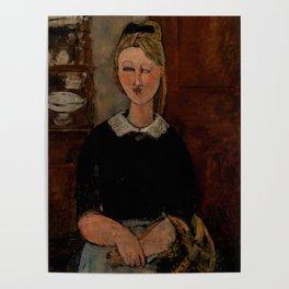 "Amedeo Modigliani ""The Pretty Housewife (La Jolie ménagère)"" Poster"