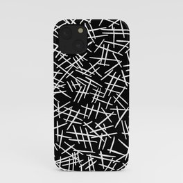 White Scratches on Black iPhone Case