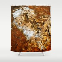 mineral Shower Curtains featuring Mineral Deposits by tracy-Me