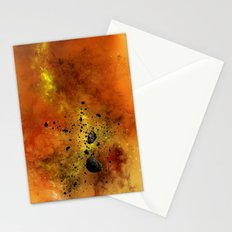 Orange Space Stationery Cards