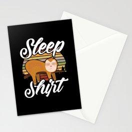 Sleep Shirt | Funny Sloth Pajama Gift Stationery Cards