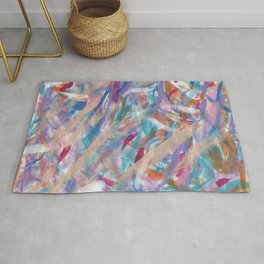 Painterly Color Expression Rug