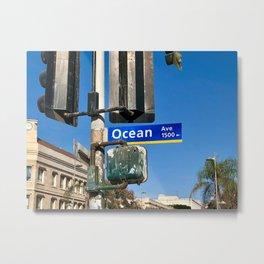 Ocean Avenue Metal Print