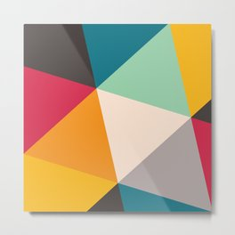 Geometric Triangles Metal Print