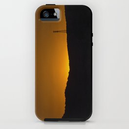 Sunset over the hills iPhone Case