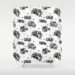 PG Cussin' Pattern Shower Curtain