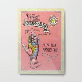 Fortune Teller poster. Metal Print