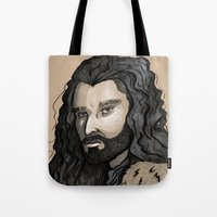thorin Tote Bags featuring Thorin by Katy-L-Wood