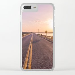 Sunset Road Clear iPhone Case