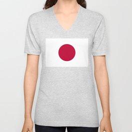 National flag of Japan Unisex V-Neck