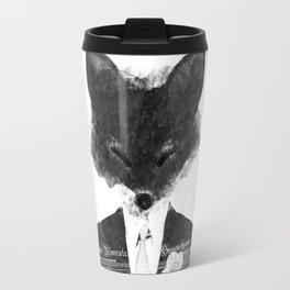 minima - dapper fox | noir Travel Mug