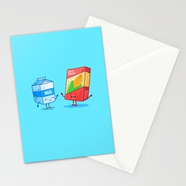 Milk and Corn (Best friends. Character set.) Stationery Cards