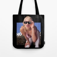 andreas preis Tote Bags featuring GTA San Andreas girl in real life by Ian Dinosaurson