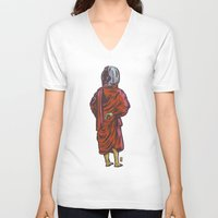 buddhism V-neck T-shirts featuring Eternal View by Thomcat23