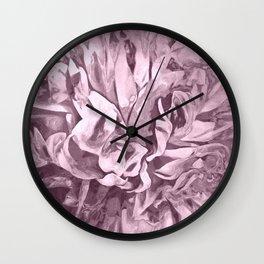 Painted Peony Sepia Pink Wall Clock