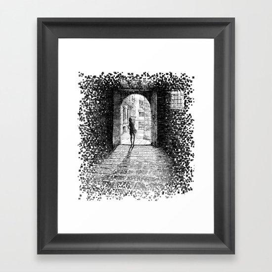 Light - Black ink Framed Art Print