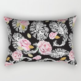 Flowering roses in the paisley Rectangular Pillow