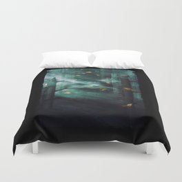 In the Woods Tonight Duvet Cover