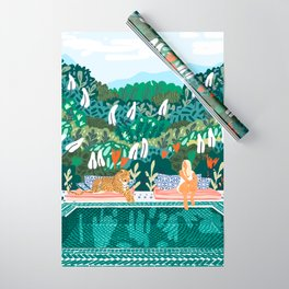 Chilling || #illustration #painting Wrapping Paper
