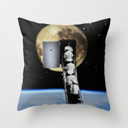 Moon trip Throw Pillow