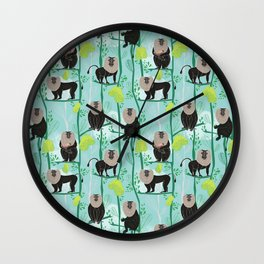 Lion tailed macaque Wall Clock
